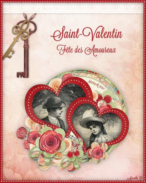 Carte de Saint-Valentin Style Vintage