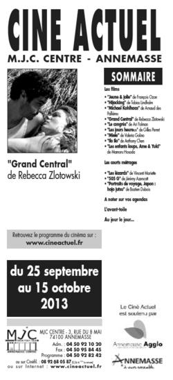 Programme du 2 au 8 octobre 2013