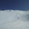 Coulée de neige sous la crête frontière