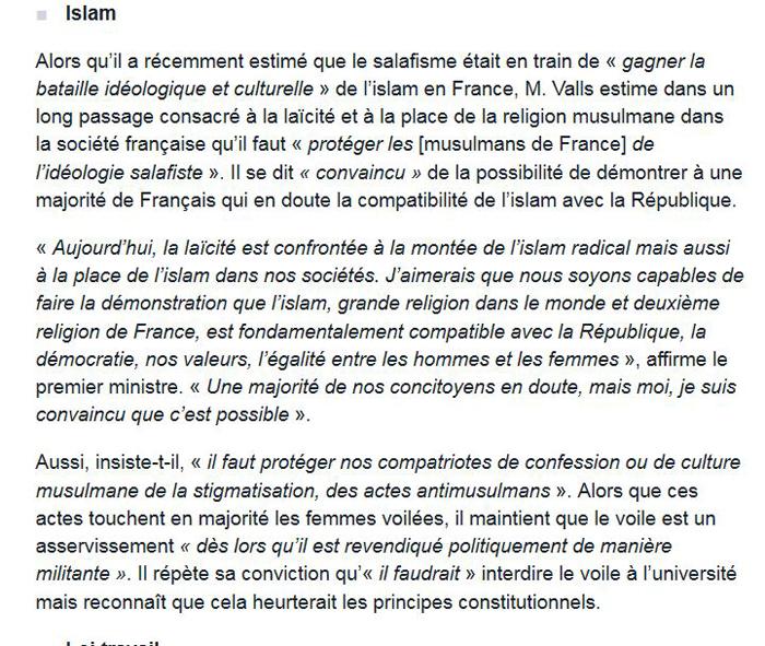 Religion/Laïcité