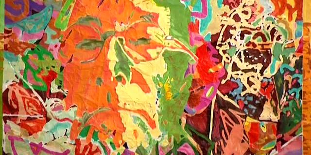 """La couleur et le papier, les oeuvres de Daniel Brindel sont présentées au Palais Bénédictine de Fécamp dans l'exposition """"Jardins d'écriture"""""""