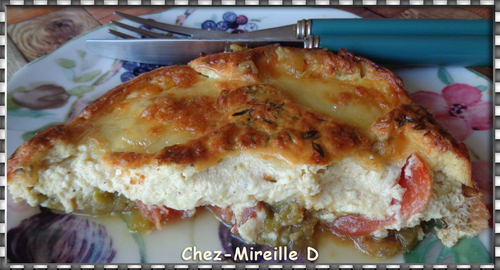 Flan de Courgettes et Tomates à la Mozzarella