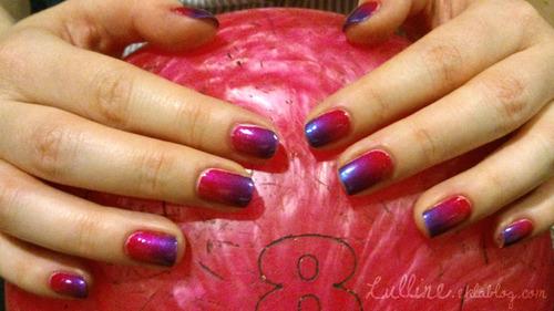 Nail Art - Dégradé Fuchsia