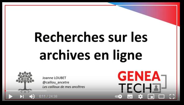 Faire des recherches sur les sites de services d'archives
