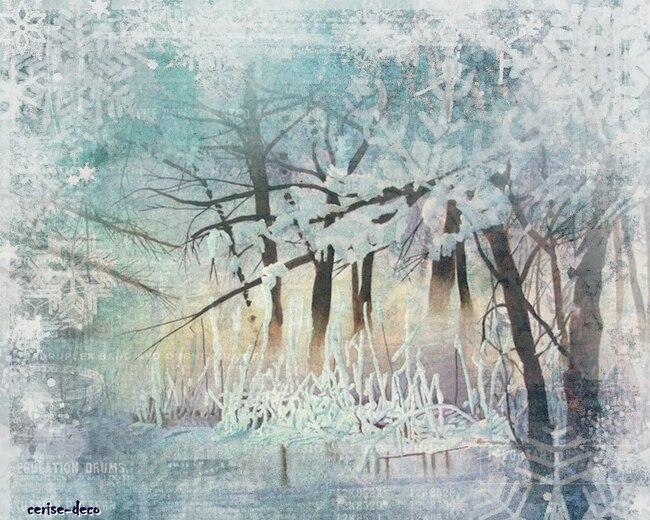 design forêt enneigée