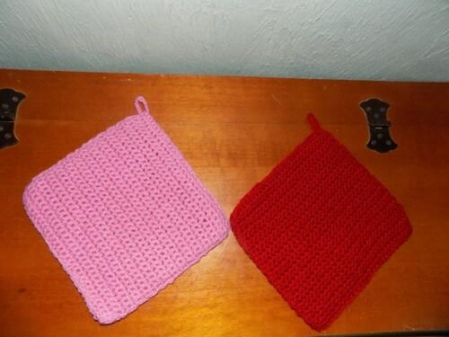 Maniques au crochet