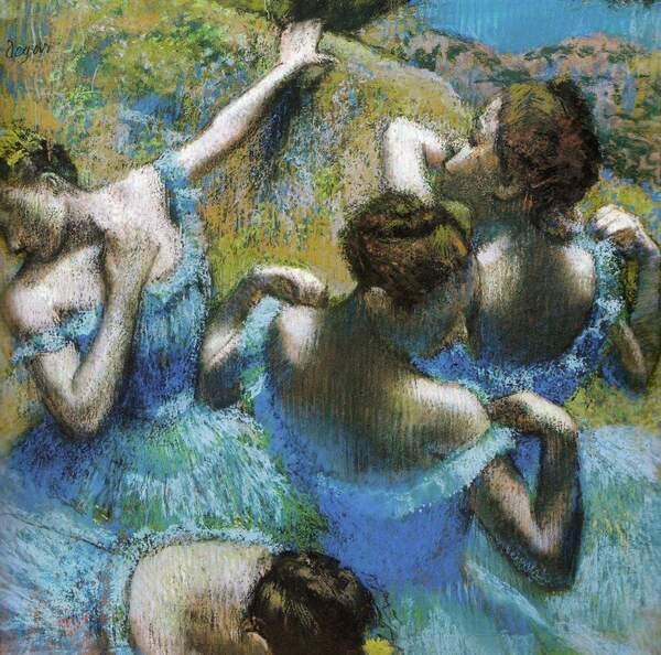 Degas, danseuses en bleu