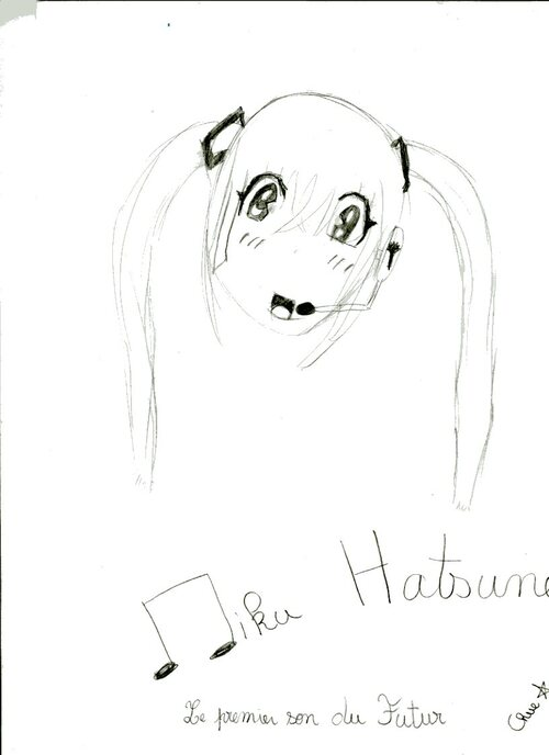 Dessin 3 - Miku Hatsune (Vocaloid)