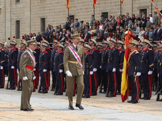 Felipe au Monastère Royal de San Lorenzo d'El Escorial