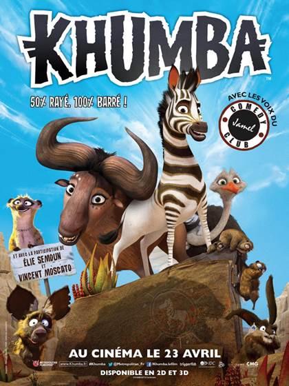 KHUMBA, au cinéma le 23 avril 2014 avec les voix du Jamel Comedy Club, Elie Semoun et Vincent Moscato ! Découvrez les coulisses du doublage !