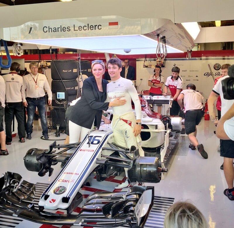 Charlène et la F1