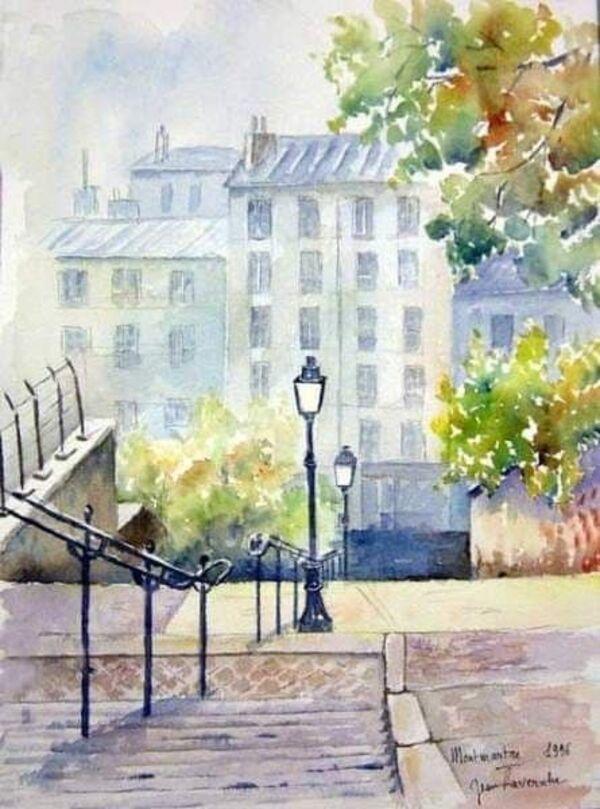 Aquarelles de : Jean Lavernhe