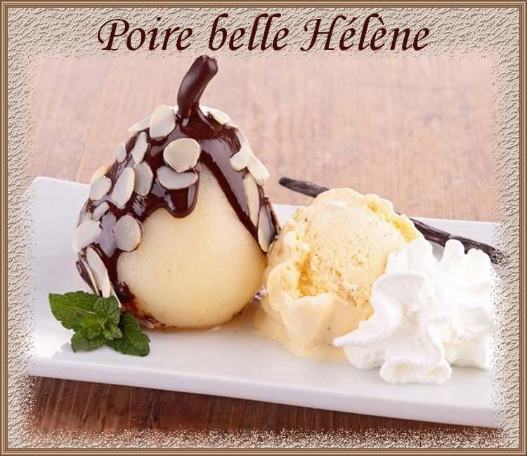Recette de cuisine : Poire belle Hélène