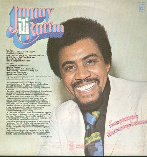 "Jimmy Ruffin : Album "" I've Passed This Way Before "" Sounds Superb Records SPR 90041 [ UK ]"