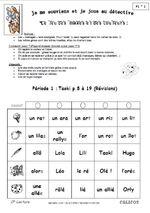 CP * Taoki Jeu pour revoir les mots Période 1-2-3