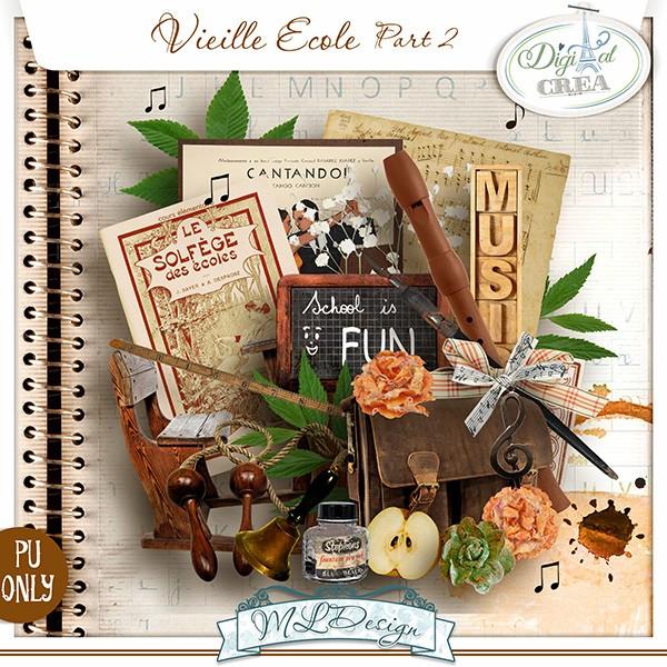 """Mini kits """"Vieille école"""" part 01 et part 02 by MLDesign"""