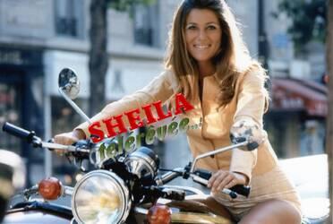 1971 : Sheila et le Honda 750 Four.
