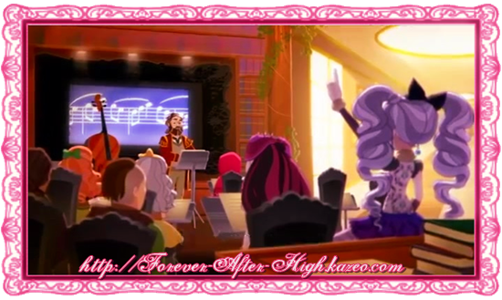 ever after high salle de muse-ique