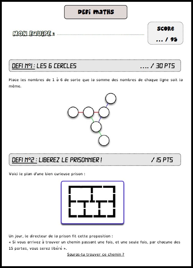 image défi maths 11
