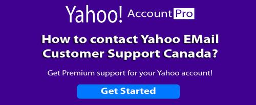 How do I contact Yahoo customer support Canada?
