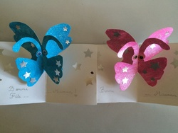Carte papillon pop up