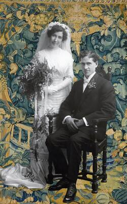 Wedding Francis CAMP * Claire Jeanne LAPORTE 1911