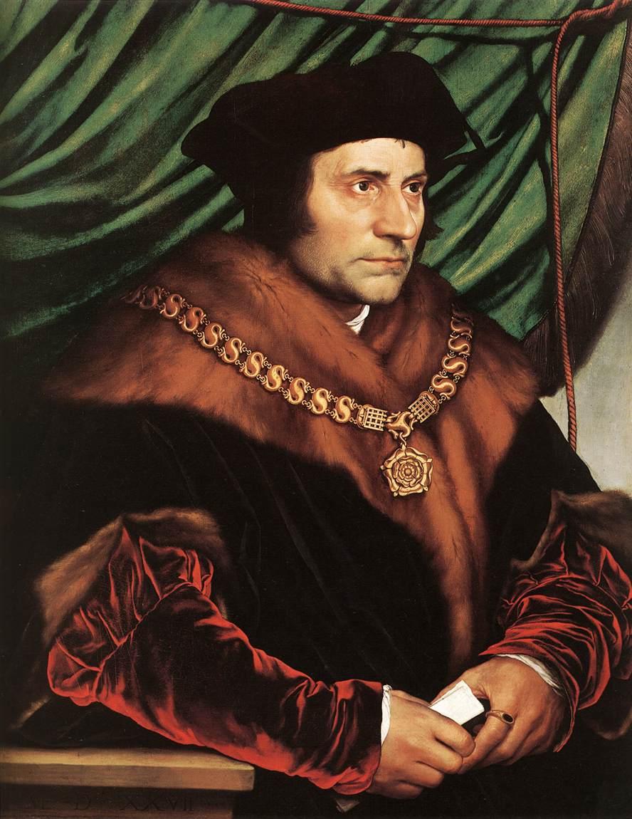 Saint Thomas More. Chancelier du roi Henri VIII d'Angleterre, martyr († 1535)
