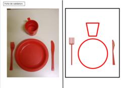 Modèles de cartes pour le langage dans l'espace cuisine