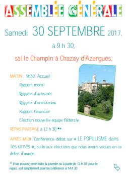 AG CMR dans le Rhône le 30 septembre 2017