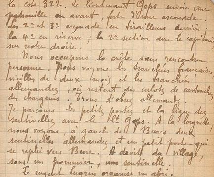 02* 1914: Octobre du 11 au 24 , Arrivée au 230 ème RI en Meurthe et Moselle