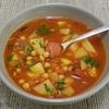 soupe pommes de terre pois chiches et chorizo espagne