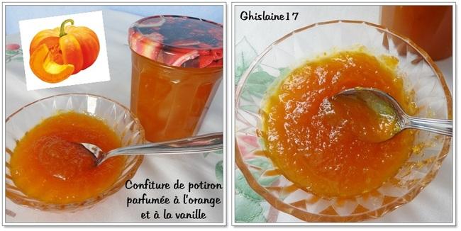 Confiture de potiron parfumée à l'orange et à la vanille
