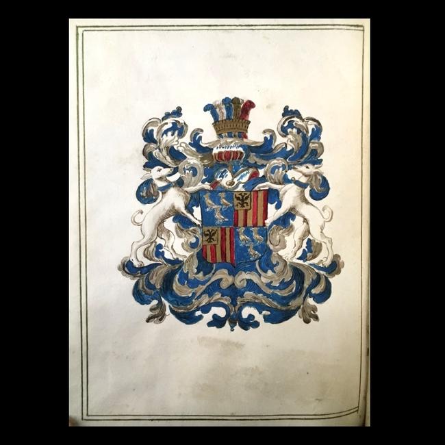 Diplôme manuscrit de droit canon et de droit civil décerné par l'université de Bologne