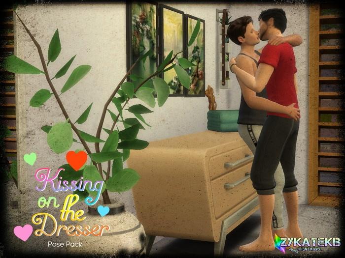 kissing on the dresser