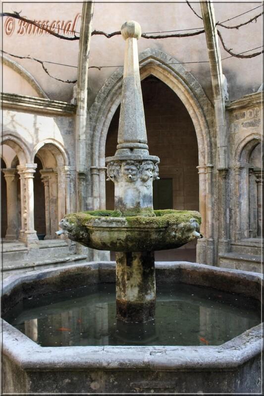 Abbaye Sainte-Marie de Valmagne Hérault le lavabo dans le cloître