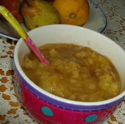 Poires, gingembre et noix de muscade