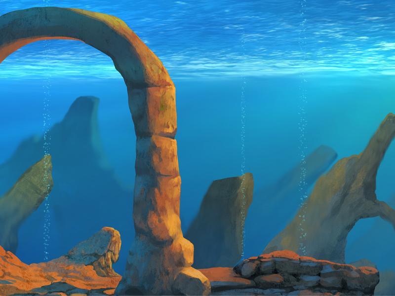 Ruine sous-marine