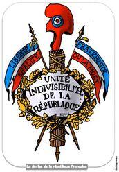 Les valeurs de la République : liberté, égalité, fraternité, laïcité.