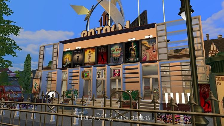 Sims 4 création d'un cinéma