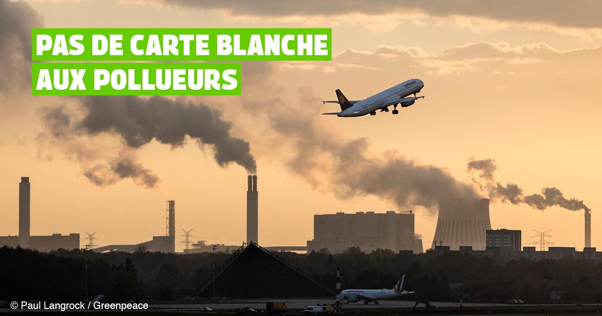 Pas de carte blanche aux pollueurs