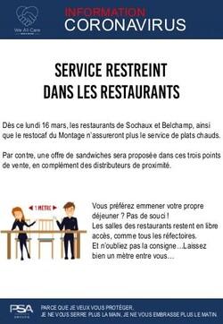 - Mise à jour coronavirus restaurant entreprise Sochaux