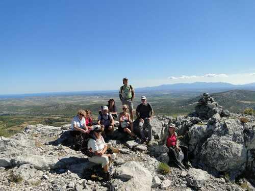Les falaises de Vingrau, Club de randonnée des Hautes Corbières (Aude)