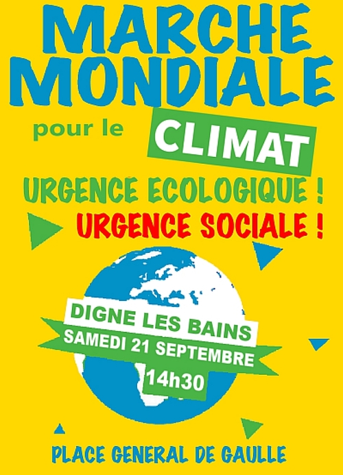 *Marche pour le climat à Digne dimanche + covoiturage