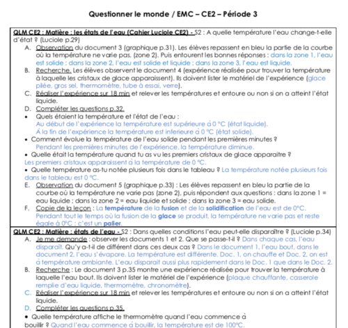 QLM-EMC CE2 période 3 (2019-2020)