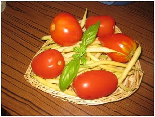 Un plateau de tomates