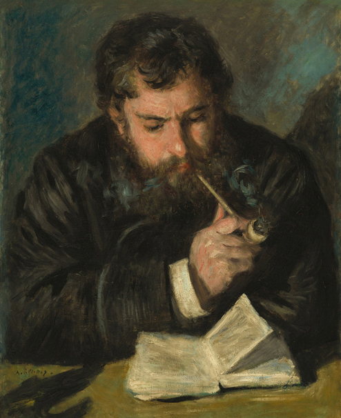« Claude Monet (Le Liseur) », 1872, Pierre-Auguste Renoir, National Gallery of Art, Washington.