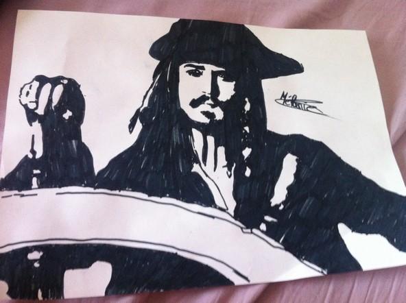 Johnny Depp dans pirate des caraïbes