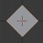Faire pivoter le cube de 45 degrés autour de l,axe z