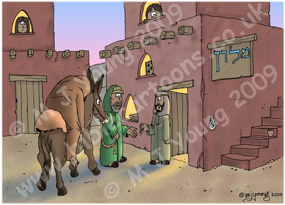 Luke 10 - Parable of the good Samaritan SET01 - Scene 04 - Arrival at inn