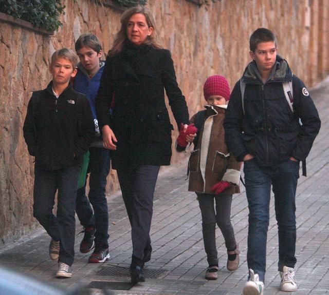 Cristina et ses enfants